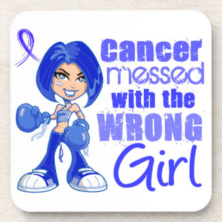 Anal Cancer Messed With Wrong Girl Beverage Coasters