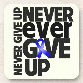 Anal Cancer Never Ever Give Up Drink Coasters
