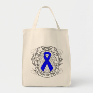 Anal Cancer Never Giving Up Hope Tote Bag