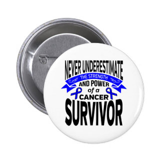 Anal Cancer Never Underestimate Strength 2 Inch Round Button