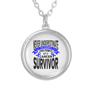 Anal Cancer Never Underestimate Strength Round Pendant Necklace