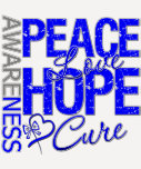 Anal Cancer Peace Love Cure Tees