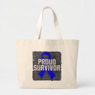 Anal Cancer Proud Survivor Jumbo Tote Bag