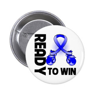 Anal Cancer Ready To Win 2 Inch Round Button