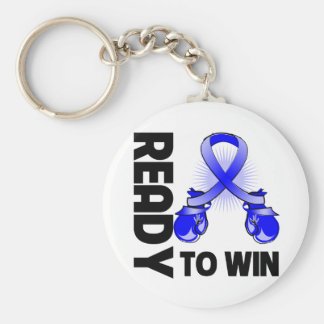 Anal Cancer Ready To Win Basic Round Button Keychain