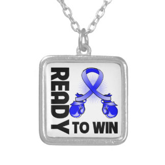 Anal Cancer Ready To Win Square Pendant Necklace
