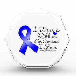 Anal Cancer Ribbon Someone I Love Acrylic Award
