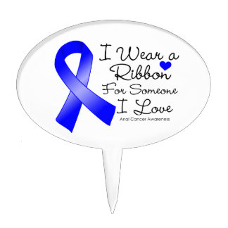 Anal Cancer Ribbon Someone I Love Cake Toppers