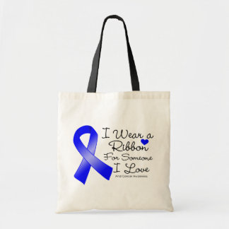 Anal Cancer Ribbon Someone I Love Canvas Bags