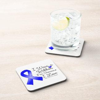 Anal Cancer Ribbon Someone I Love Coasters