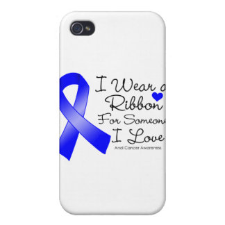 Anal Cancer Ribbon Someone I Love iPhone 4 Cases