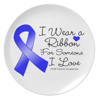 Anal Cancer Ribbon Someone I Love Plate
