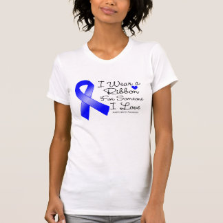 Anal Cancer Ribbon Someone I Love Tee Shirts