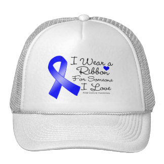 Anal Cancer Ribbon Someone I Love Trucker Hat
