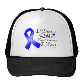 Anal Cancer Ribbon Someone I Love Trucker Hats