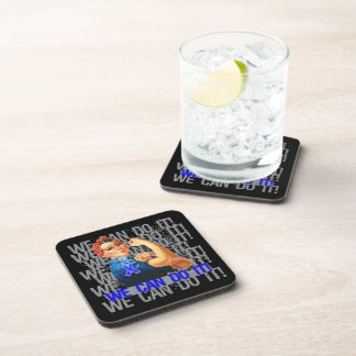Anal Cancer Rosie WE CAN DO IT Coasters