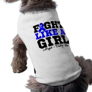Anal Cancer Sporty Fight Like a Girl Dog Tee