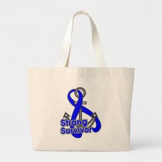 Anal Cancer Strong Survivor Anchor Jumbo Tote Bag