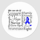 Anal Cancer Supportive Words Classic Round Sticker