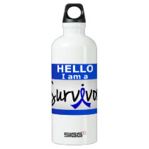 Anal Cancer Survivor 24.png Aluminum Water Bottle