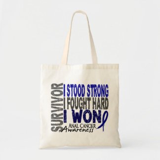 Anal Cancer Survivor 4 Budget Tote Bag