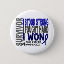 Anal Cancer Survivor 4 Pinback Button