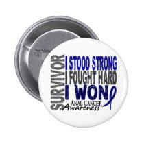 Anal Cancer Survivor 4 Pinback Button