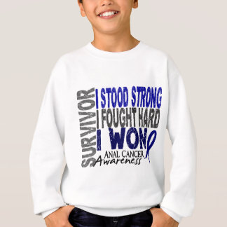Anal Cancer Survivor 4 Sweatshirt
