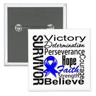 Anal Cancer Survivor Collage Pinback Button