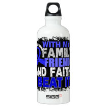 Anal Cancer Survivor Family Friends Faith Aluminum Water Bottle