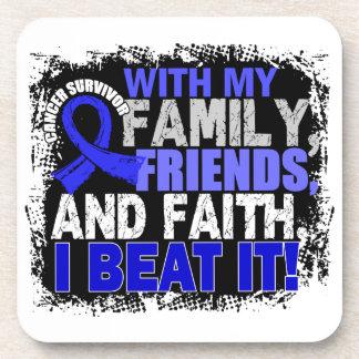 Anal Cancer Survivor Family Friends Faith Coasters