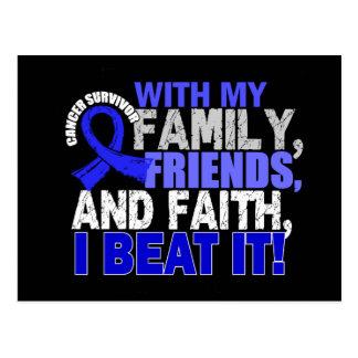 Anal Cancer Survivor Family Friends Faith Postcard