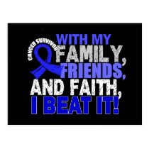 Anal Cancer Survivor Family Friends Faith Postcard