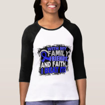 Anal Cancer Survivor Family Friends Faith T-Shirt
