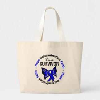 Anal Cancer Survivor Hope Determination Faith Jumbo Tote Bag