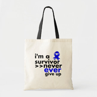 Anal Cancer Survivor Never Give Up Canvas Bags