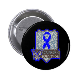 Anal Cancer Survivor Vintage Butterfly Pinback Buttons