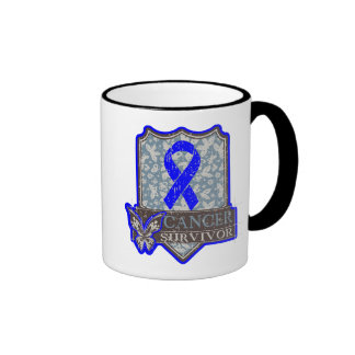 Anal Cancer Survivor Vintage Butterfly Ringer Coffee Mug