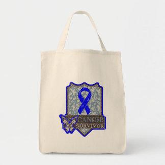 Anal Cancer Survivor Vintage Butterfly Tote Bag