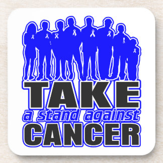 Anal Cancer -Take A Stand Against Cancer Beverage Coasters