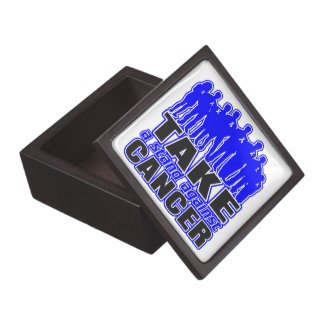 Anal Cancer -Take A Stand Against Cancer Premium Trinket Boxes