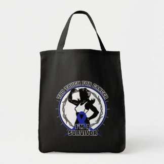 Anal Cancer Too Tough For Cancer Grocery Tote Bag