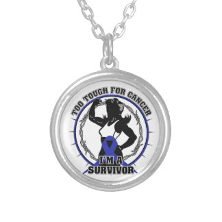 Anal Cancer Too Tough For Cancer Round Pendant Necklace