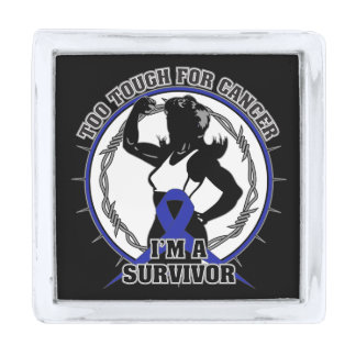 Anal Cancer Too Tough For Cancer Silver Finish Lapel Pin