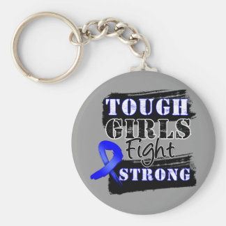 Anal Cancer Tough Girls Fight Strong Basic Round Button Keychain