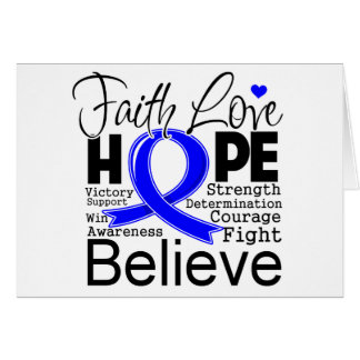 Anal Cancer Typographic Faith Love Hope Cards