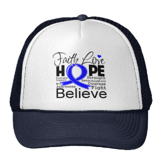 Anal Cancer Typographic Faith Love Hope Trucker Hat