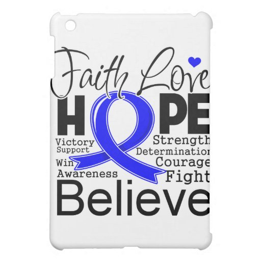 Anal Cancer Typographic Faith Love Hope iPad Mini Covers