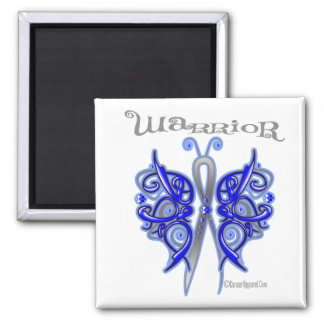 Anal Cancer Warrior Celtic Butterfly Magnet