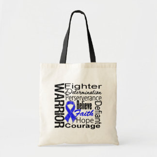 Anal Cancer Warrior Collage Budget Tote Bag